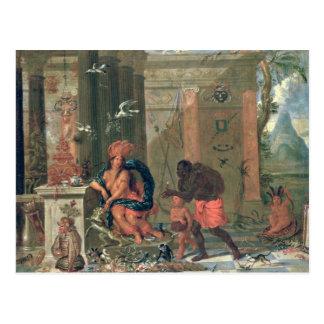 Allegory of America, 1691 Postcard