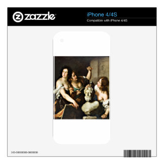 Allegory of Arts by Bernardo Strozzi Skins For The iPhone 4