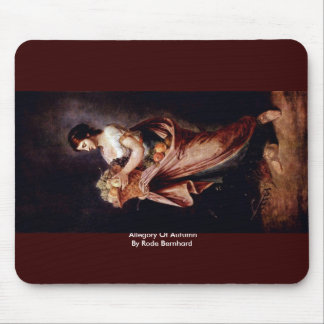 Allegory Of Autumn By Rode Bernhard Mouse Pad