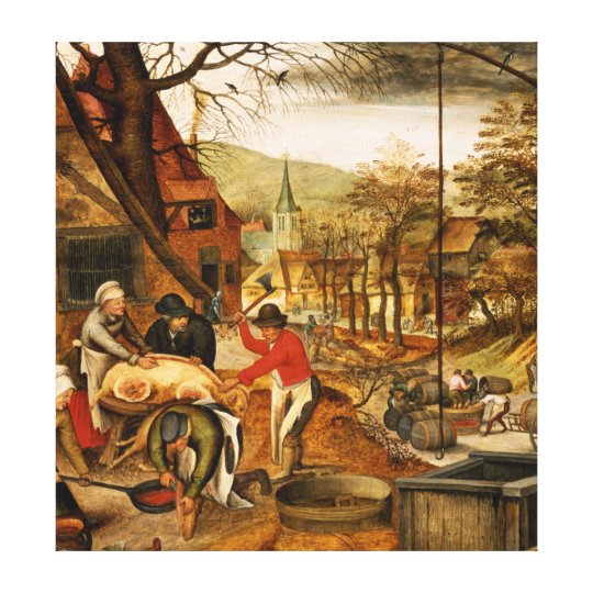 Allegory of Autumn Canvas Print