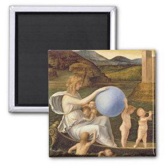 Allegory of Changing Fortune, or Melancholy (oil o 2 Inch Square Magnet