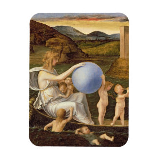 Allegory of Changing Fortune, or Melancholy (oil o Rectangular Photo Magnet