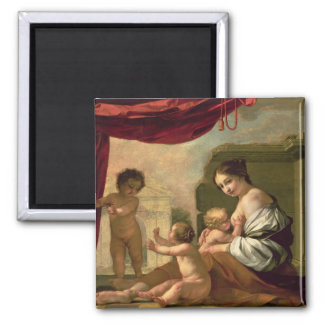 Allegory of Charity 2 Inch Square Magnet