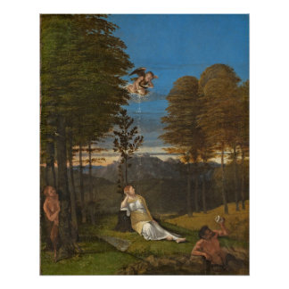 Allegory of Chastity, c. 1505 (oil on panel) Poster