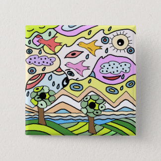 allegory of climate change pinback button