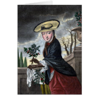 Allegory of December - Woman in Winter Dress Greeting Card