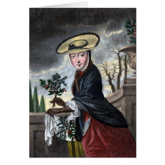 Allegory of December - Woman in Winter Dress Card