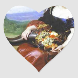 Allegory of Earth by Cornelis de Vos Heart Sticker