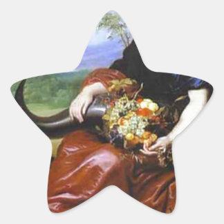 Allegory of Earth by Cornelis de Vos Star Sticker