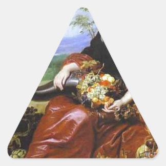 Allegory of Earth by Cornelis de Vos Triangle Sticker