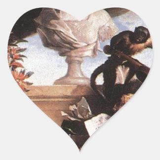 Allegory of Europe by Jean-Baptiste Oudry Heart Sticker