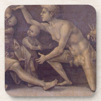Allegory of Fecundity and Abundance Luca Signorell Beverage Coaster
