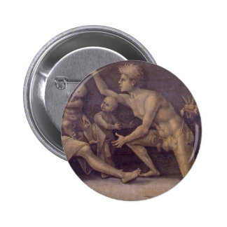 Allegory of Fecundity and Abundance Luca Signorell Pinback Button