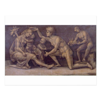 Allegory of Fecundity and Abundance Luca Signorell Postcard