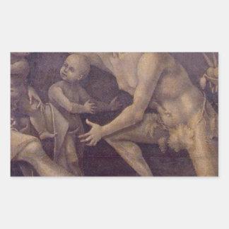 Allegory of Fecundity and Abundance Luca Signorell Rectangular Sticker