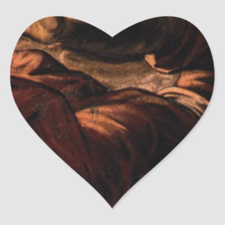 Allegory of Generosity by Tintoretto Heart Sticker