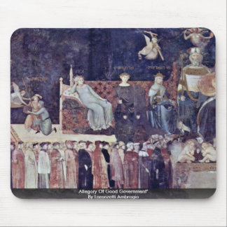Allegory Of Good Government Mousepad