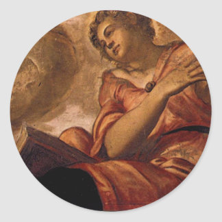 Allegory of Goodness by Tintoretto Classic Round Sticker