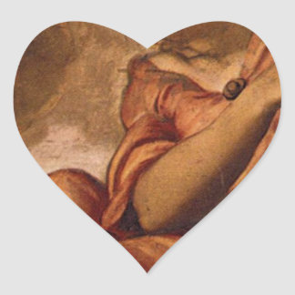 Allegory of Goodness by Tintoretto Heart Sticker