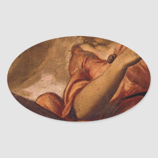 Allegory of Goodness by Tintoretto Oval Sticker