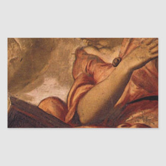 Allegory of Goodness by Tintoretto Rectangular Sticker
