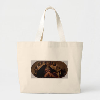 Allegory of Happiness by Tintoretto Jumbo Tote Bag