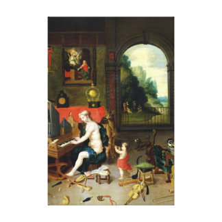 Allegory of Hearing Canvas Print