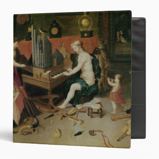 Allegory of Hearing, detail of an organist 3 Ring Binder
