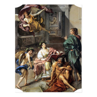Allegory of History by Anton Raphael Mengs Postcard