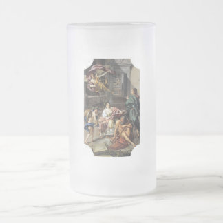 Allegory of History Frosted Glass Beer Mug