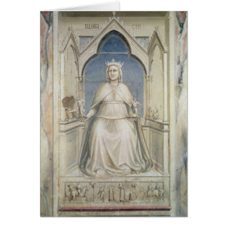 Allegory of Justice, c.1305 Card