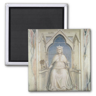 Allegory of Justice, c.1305 2 Inch Square Magnet
