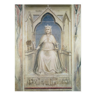 Allegory of Justice, c.1305 Postcard