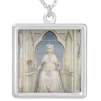 Allegory of Justice, c.1305 Square Pendant Necklace
