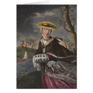 Allegory of March - Beautiful Woman Greeting Card