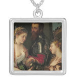 Allegory of Married Life Silver Plated Necklace