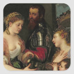 Allegory of Married Life Square Sticker