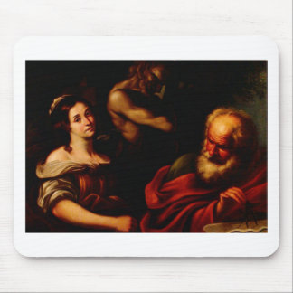 Allegory of Mathematics by Bernardo Strozzi Mouse Pad