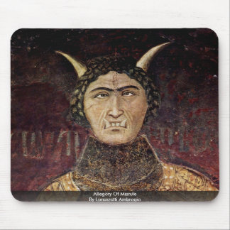 Allegory Of Misrule  By Lorenzetti Ambrogio Mouse Pad