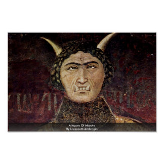 Allegory Of Misrule By Lorenzetti Ambrogio Posters