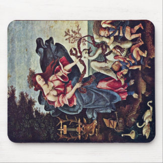 Allegory Of Music By Lippi Filippino Mousepad