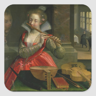 Allegory of Music c 1600 Stickers