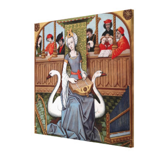 Allegory of Music Stretched Canvas Print