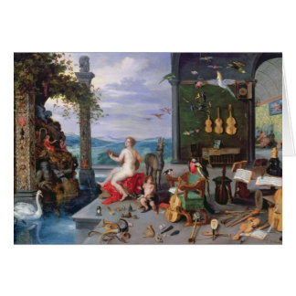 Allegory of Music Card