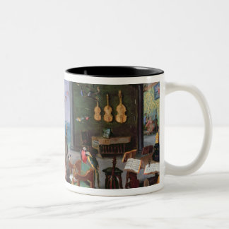 Allegory of Music Two-Tone Coffee Mug