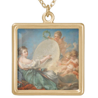 Allegory of Painting, 1765 (oil on canvas) Gold Plated Necklace