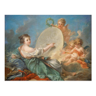 Allegory of Painting, 1765 (oil on canvas) Postcard