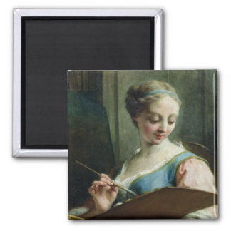 Allegory of Painting 2 Inch Square Magnet