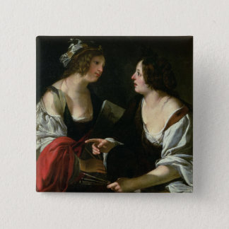 Allegory of Painting and Architecture, c.1620 (oil Button