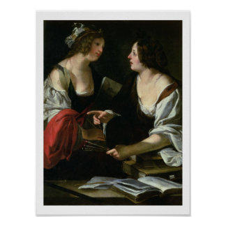 Allegory of Painting and Architecture, c.1620 (oil Poster